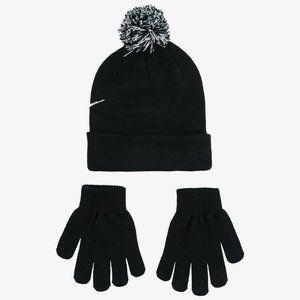 Nike Accessories - Swoosh Beanie and Glove Set 9A2695-023 Black White